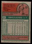 1975 Topps Mini #81  Ron Reed  Back Thumbnail