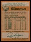 1978 Topps #254  Dave Burrows  Back Thumbnail