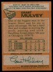 1978 Topps #261  Grant Mulvey  Back Thumbnail