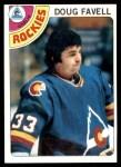 1978 Topps #54  Doug Favell  Front Thumbnail