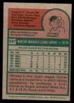 1975 Topps Mini #597  Winston Llenas  Back Thumbnail