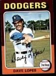 1975 Topps Mini #93  Dave Lopes  Front Thumbnail