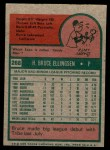 1975 Topps Mini #288  Bruce Ellingsen  Back Thumbnail
