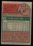 1975 Topps Mini #105  Buzz Capra  Back Thumbnail