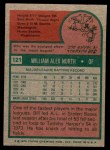 1975 Topps Mini #121  Bill North  Back Thumbnail