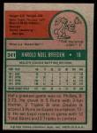 1975 Topps Mini #341  Hal Breeden  Back Thumbnail