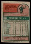 1975 Topps Mini #513  Dick Pole  Back Thumbnail