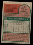 1975 Topps Mini #502  Pat Bourque  Back Thumbnail