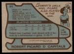 1979 Topps #91  Robert Picard  Back Thumbnail