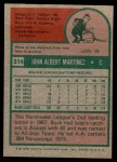 1975 Topps Mini #314  Buck Martinez  Back Thumbnail