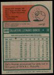 1975 Topps Mini #380  Sal Bando  Back Thumbnail