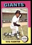 1975 Topps Mini #425  Tito Fuentes  Front Thumbnail