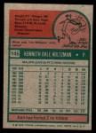 1975 Topps Mini #145  Ken Holtzman  Back Thumbnail