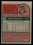 1975 Topps Mini #187  Denny Doyle  Back Thumbnail