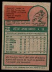 1975 Topps Mini #658  Vic Harris  Back Thumbnail