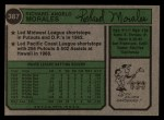 1974 Topps #387 SD Rich Morales  Back Thumbnail