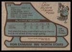 1979 Topps #22  Ron Zanussi  Back Thumbnail