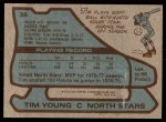 1979 Topps #36  Tim Young  Back Thumbnail