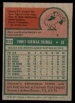 1975 Topps Mini #532  Gorman Thomas  Back Thumbnail