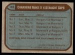 1979 Topps #83   Stanley Cup Finals - Canadiens Make it 4 Straight Cups Back Thumbnail