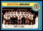 1979 Topps #245   Bruins Team Checklist Front Thumbnail