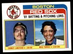 1982 Topps #786   -  Carney Lansford / Mike Torrez Red Sox Leaders Front Thumbnail