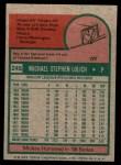 1975 Topps Mini #245  Mickey Lolich  Back Thumbnail