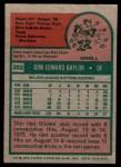 1975 Topps Mini #382  Don Baylor  Back Thumbnail