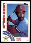 1984 Topps #389   -  Ozzie Smith All-Star Front Thumbnail