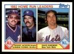 1983 Topps #702   -  Dave Kingman / Reggie Jackson HR Leaders Front Thumbnail