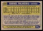 1987 Topps #634  Rafael Palmeiro  Back Thumbnail