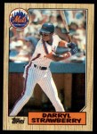 1987 Topps #460  Darryl Strawberry  Front Thumbnail