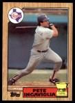 1987 Topps #550  Pete Incaviglia  Front Thumbnail
