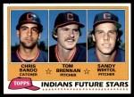1981 Topps #451   -  Sandy Wihtol  /  Chris Bando  /  Tom Brennan Indians Front Thumbnail