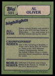 1982 Topps #591   -  Al Oliver In Action Back Thumbnail