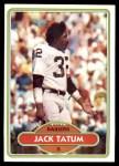 1980 Topps #429  Jack Tatum  Front Thumbnail