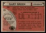 1980 Topps #133  Gary Green  Back Thumbnail