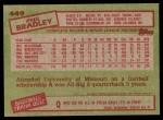 1985 Topps #449  Phil Bradley  Back Thumbnail