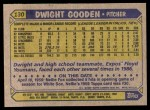 1987 Topps #130  Dwight Gooden  Back Thumbnail