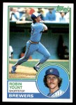 1983 Topps #350  Robin Yount  Front Thumbnail