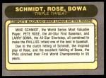 1981 Fleer #645 ERR Pete Rose  Back Thumbnail