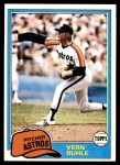 1981 Topps #642  Vern Ruhle  Front Thumbnail