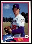 1981 Topps #548  Dave Goltz  Front Thumbnail