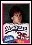 1981 Topps #624  Bob Welch  Front Thumbnail