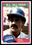 1981 Topps #50  Dave Lopes  Front Thumbnail