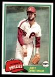 1981 Topps #346  Larry Christenson  Front Thumbnail