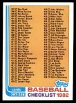 1982 Topps #491   Checklist Front Thumbnail