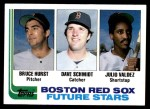 1982 Topps #381   -  Bruce Hurst / Julio Valdez / Dave Schmidt Red Sox Rookies   Front Thumbnail