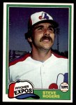 1981 Topps #725  Steve Rogers  Front Thumbnail
