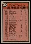 1981 Topps #679   Dodgers Team Checklist Back Thumbnail
